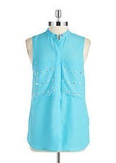 MICHAEL MICHAEL KORS Embellished Sleeveless Blouse