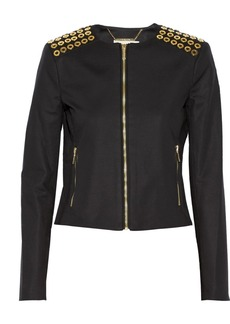 MICHAEL Michael Kors Embellished stretch-cotton jacket