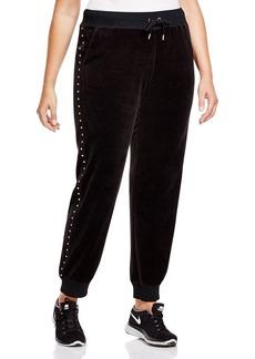 MICHAEL Michael Kors Embellished Velour Track Pants