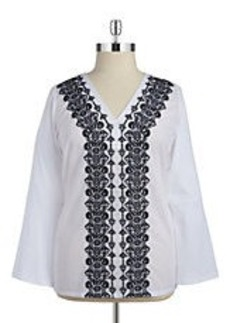 MICHAEL MICHAEL KORS Embroidered Cotton Blouse