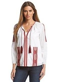 MICHAEL Michael Kors® Embroidery Tassel Top