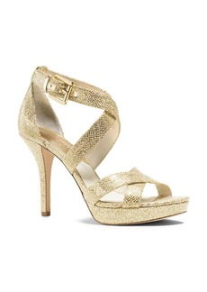 MICHAEL Michael Kors Evie Glitter Platform Sandals