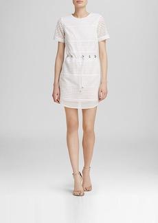 MICHAEL Michael Kors Eyelet Panel Drawstring Dress