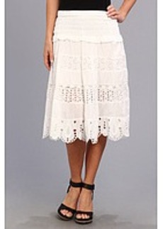 MICHAEL Michael Kors Eyelet Tierd Midi Skirt