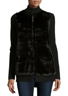 MICHAEL Michael Kors Faux-Fur-Front Cardigan