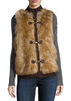 MICHAEL Michael Kors Faux-Fur Sweater Vest