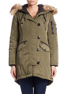 MICHAEL MICHAEL KORS Faux Fur-Trimmed Hooded Parka