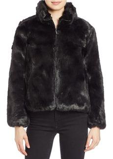 MICHAEL MICHAEL KORS Faux-Fur Zip-Front Jacket