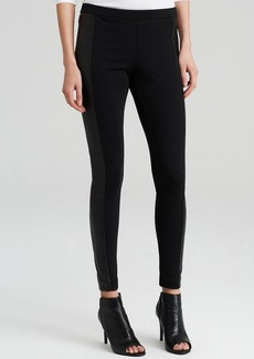 MICHAEL Michael Kors Faux Leather Panel Leggings