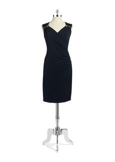 MICHAEL MICHAEL KORS Faux-Wrap Ruched Dress