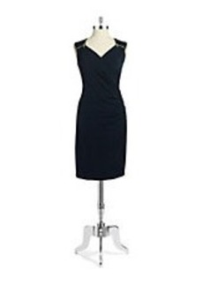 MICHAEL MICHAEL KORS Faux-Wrap Ruched Dress