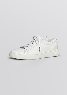 MICHAEL Michael Kors Flat Lace Up Sneakers - Keaton Python-Embossed