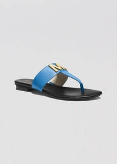 MICHAEL Michael Kors Flat Thong Sandals - Hayley MK Logo