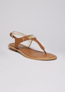 MICHAEL Michael Kors Flat Thong Sandals - MK Plate