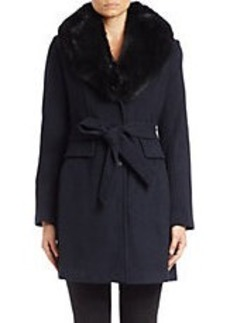 MICHAEL MICHAEL KORS Fox Fur-Collared Wool-Blend Coat
