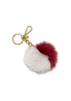 MICHAEL MICHAEL KORS Fox Fur Pom-Pom Keychain