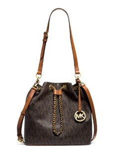 MICHAEL Michael Kors Frankie Large Convertible Drawstring Shoulder Bag, Brown