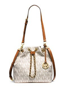 MICHAEL Michael Kors Frankie Large Convertible Drawstring Shoulder Bag, Vanilla