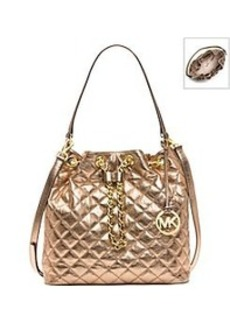 MICHAEL Michael Kors® Frankie Quilted Metallic Large Shoulder Bag