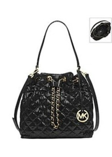 MICHAEL Michael Kors® Frankie Quilted Patent Snake Large Shoulder Bag