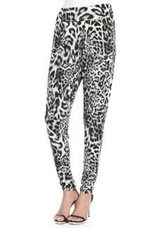 MICHAEL Michael Kors Freemont Animal-Print Crossover Pants