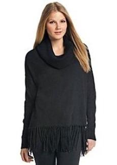 MICHAEL Michael Kors® Fringe Hem Cowlneck Sweater