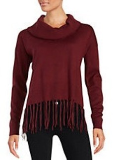 MICHAEL MICHAEL KORS Fringed Cowlneck Sweater