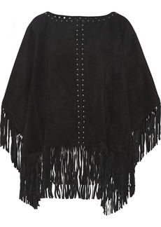 MICHAEL Michael Kors Fringed suede poncho
