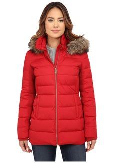 MICHAEL Michael Kors Front Zip Short Down w/ Faux Fur