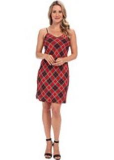 MICHAEL Michael Kors Frontier Plaid Slip Dress