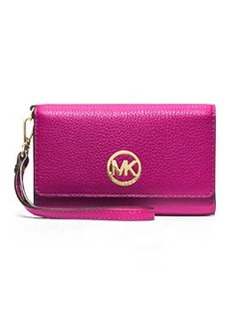 MICHAEL Michael Kors Fulton Large Multifunction Smart Phone Wristlet Wallet, Fuchsia