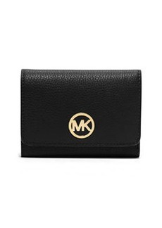 MICHAEL Michael Kors Fulton Medium Tri-Fold Wallet, Black