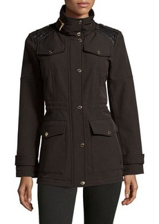 MICHAEL Michael Kors Funnel-Collar Military-Style Anorak