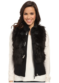 MICHAEL Michael Kors Fur Toggle Vest