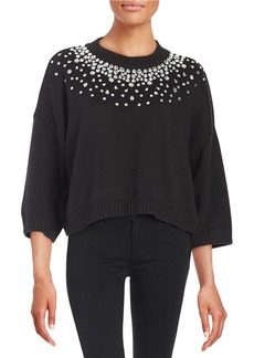 MICHAEL MICHAEL KORS Gem-Studded Pullover Sweater