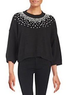 MICHAEL MICHAEL KORS Gem-Studded Pullover Sweater