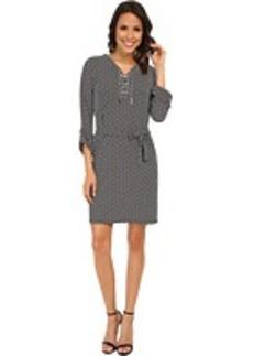 MICHAEL Michael Kors Geo Chiffon Tie Dress