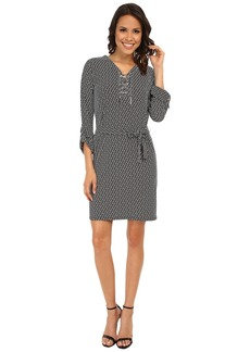 MICHAEL Michael Kors Geo Chiffon Tie Dress