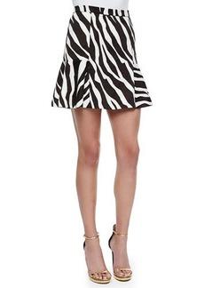 MICHAEL Michael Kors Ghanzi Zebra-Print Flounce Skirt