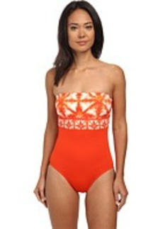 MICHAEL Michael Kors Glazed Tile Bandeau Maillot One-Piece