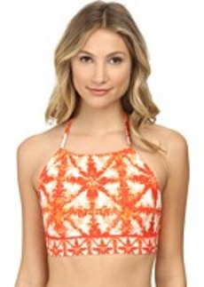 MICHAEL Michael Kors Glazed Tile Halter Bra Swim Top