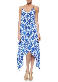 MICHAEL Michael Kors Glazed Tile High-Low Dress