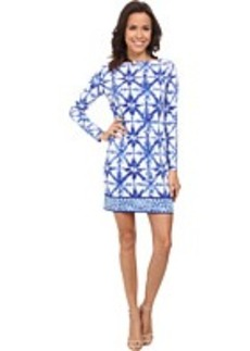 MICHAEL Michael Kors Glazed Tile Long Sleeve Border Dress