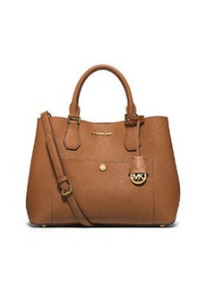 MICHAEL Michael Kors Greenwich Large Leather Tote Bag, Luggage/Watermelon