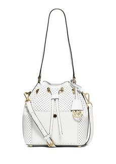 MICHAEL Michael Kors Greenwich Medium Perforated Saffiano Bucket Bag