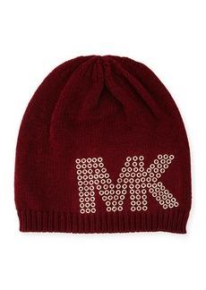 MICHAEL Michael Kors Grommet-Logo Knit Hat