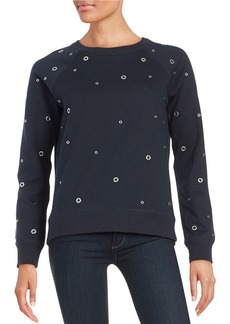 MICHAEL MICHAEL KORS Grommet Roundneck Sweatshirt