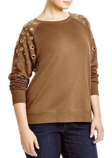 MICHAEL Michael Kors Grommet Sleeve Sweatshirt