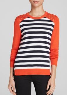MICHAEL Michael Kors Grommet Stripe Sweater