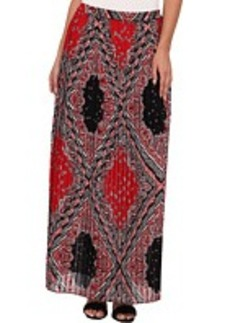 MICHAEL Michael Kors Guilted Pleated Maxi Skirt